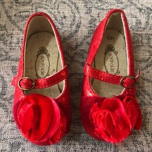 Red Joyfolie Baby shoes
